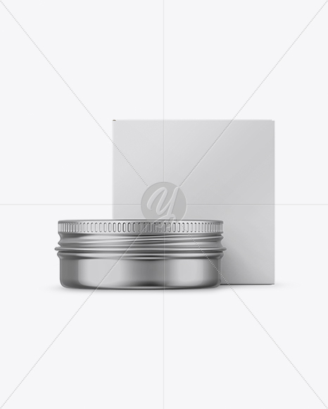 Download Metallic Lip Balm Tin With Matte Box Mockup Front View In Can Mockups On Yellow Images Object Mockups PSD Mockup Templates