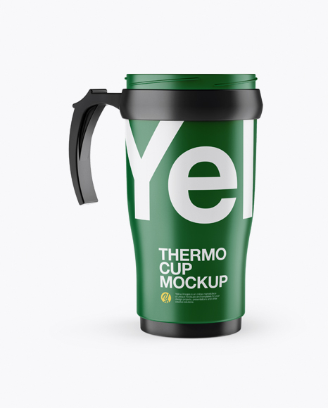 Download Free Matte Opened Thermo Cup Mockup PSD Template