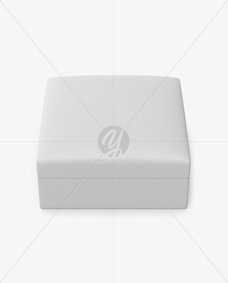 Jewelry Box Mockup - Front View (High Angle Shot)