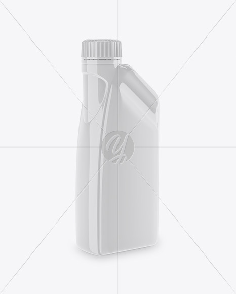 Glossy Plastic Jerry Can Mockup - Half Side View