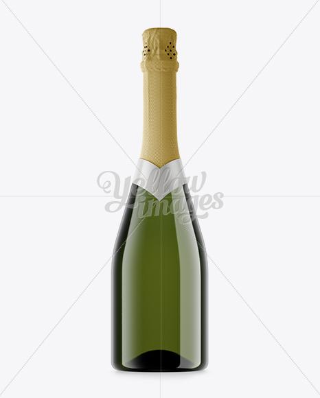 Champagne Bottle HQ Mockup