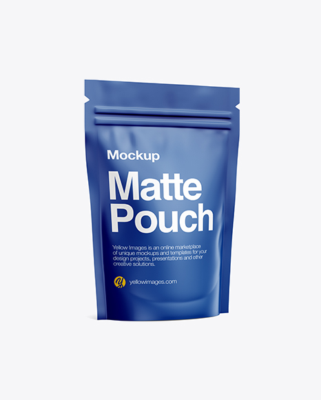 Matte Stand-Up Pouch Mockup - Half Side View