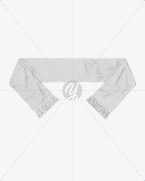 Fan Scarf Mockup - Top View in Apparel Mockups on Yellow