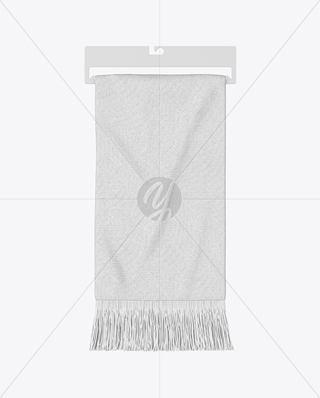 Fan Scarf Mockup - Top View in Apparel Mockups on Yellow Images