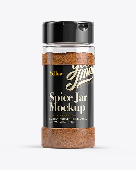 Red Spice Jar Mockup