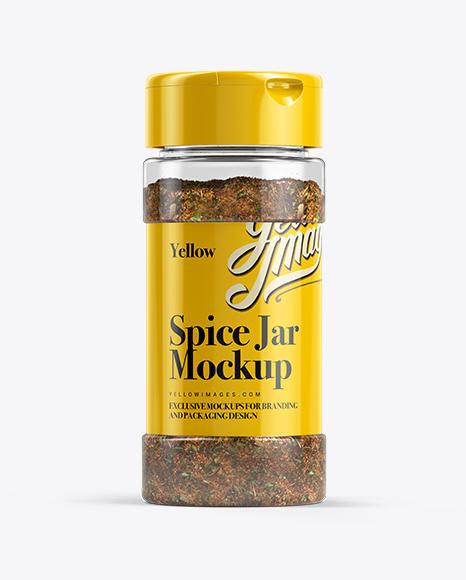 Spice Mix Jar Mockup