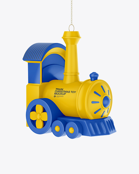 Matte Train Christmas Toy Mockup