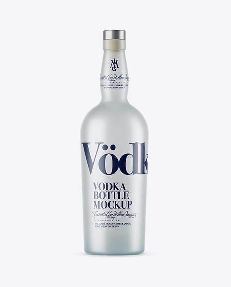 Download Frosted Glass Vodka Bottle Mockup Object Mockups