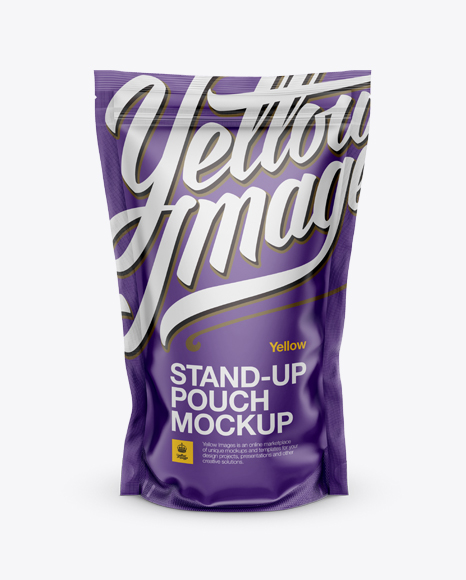 Download Matte Stand Up Pouch With Zipper Mockup Mockup - Front View Object Mockups