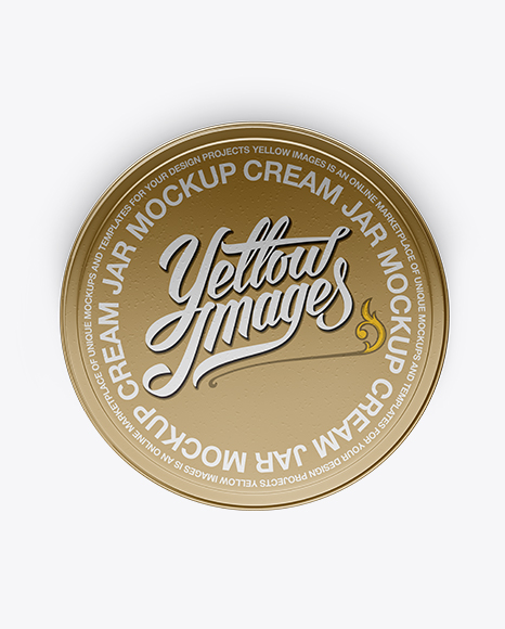 Download Metallic Cosmetic Jar Mockup - Top View Object Mockups