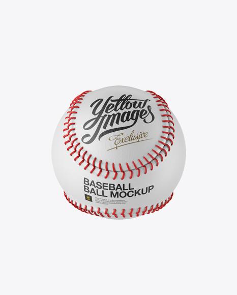 Baseball Ball Mockup - High-Angle Shot