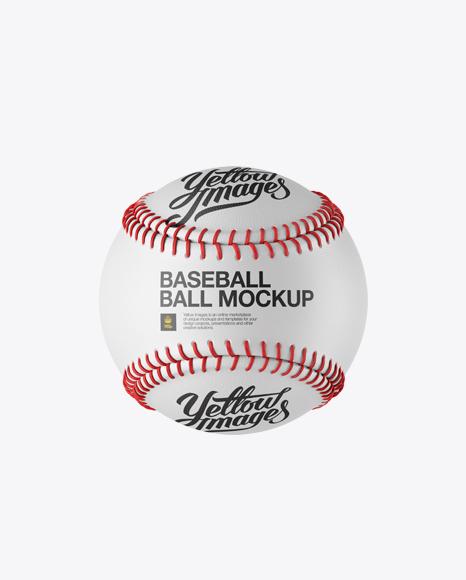 Baseball Ball Mockup - Front View