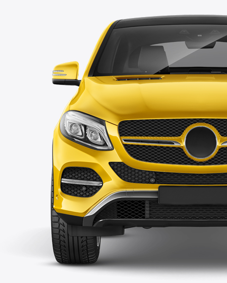Download Mercedes-Benz GLE Coupe 2016 Mockup - Front view Object Mockups