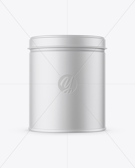 Download Matte Round Tin Box Mockup In Box Mockups On Yellow Images Object Mockups PSD Mockup Templates