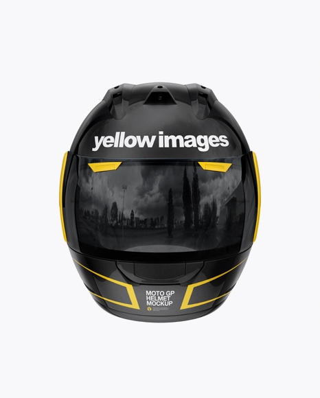 Download Free Moto GP Helmet Mockup - Front View PSD Template