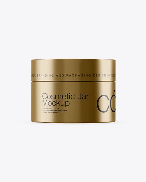 Download 50ml Metallic Cosmetic Jar Mockup Object Mockups