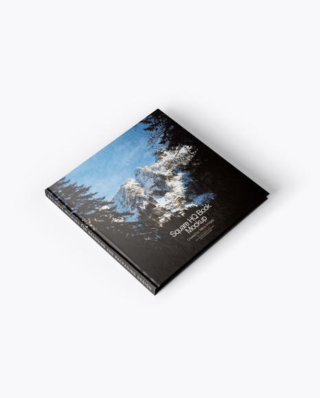 Download Square Hardcover Book Mockup - Half Side View Object Mockups