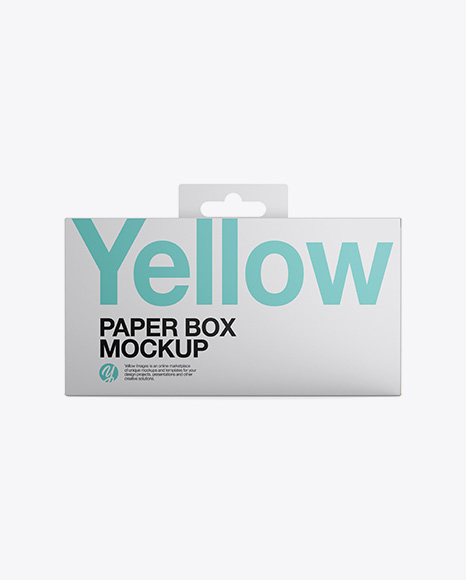 Download Paper Box Mockup - Front View Object Mockups