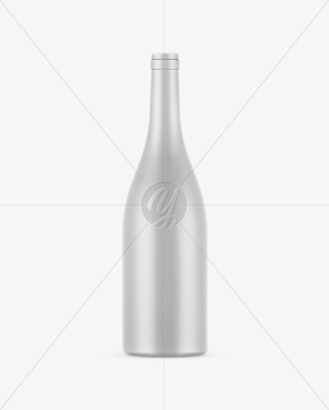 750ml Matte Ceramic Wine Bottle Mockup