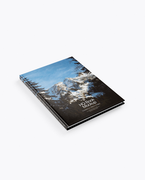 Hardcover Book Mockup - Half Side View