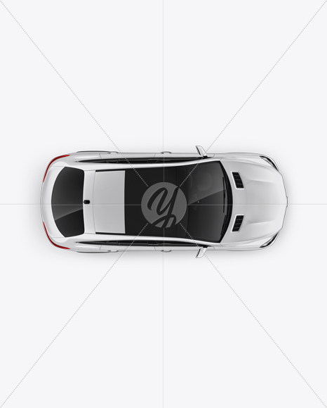 Mercedes-Benz GLE Coupe 2016 Mockup - Top view