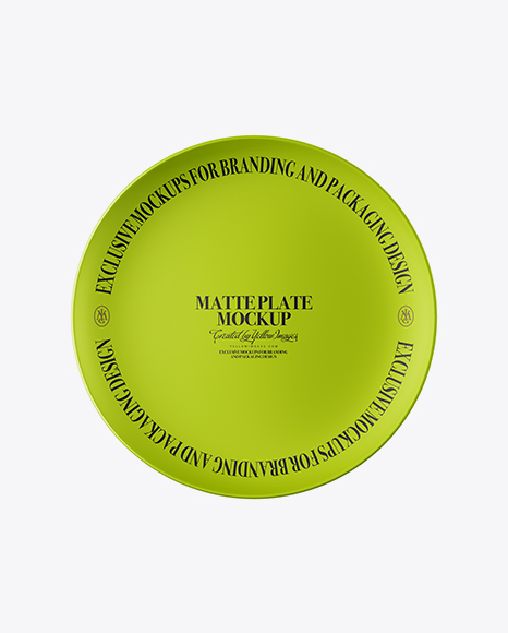 Download Free Matte Plate Mockup - Top View PSD Template