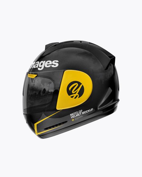 Moto GP Helmet Mockup - Side View