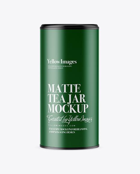 Matte Tea Jar Mockup