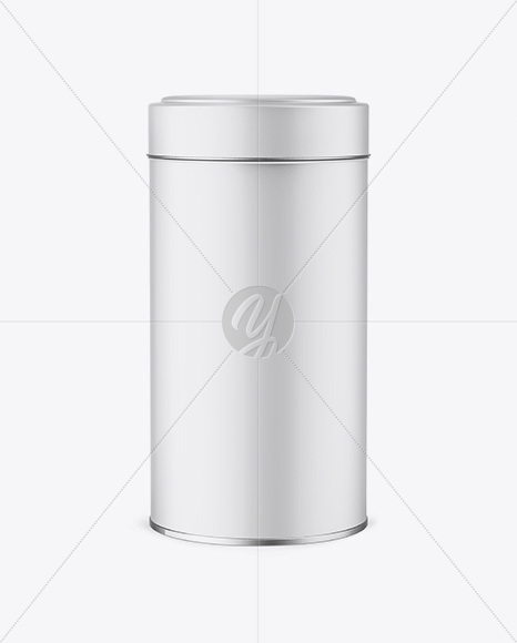 Download Matte Round Tin Box Mockup Front View In Box Mockups On Yellow Images Object Mockups PSD Mockup Templates