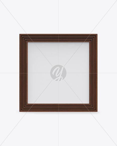 Wooden Photo Frame Mockup