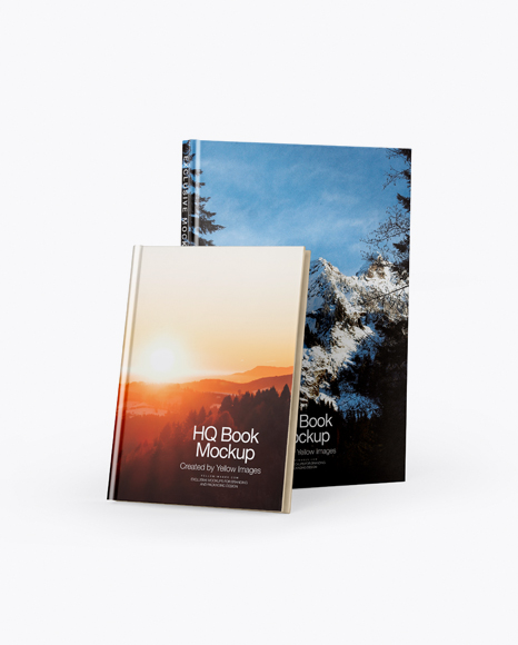 Download Free Two Hardcover Books Mockup PSD Template