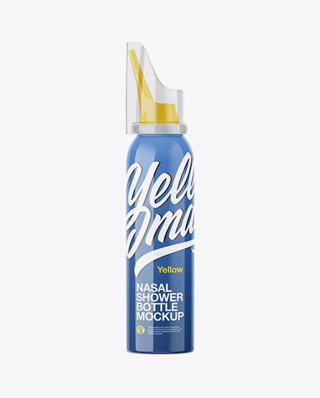 Nasal Shower Bottle Mockup