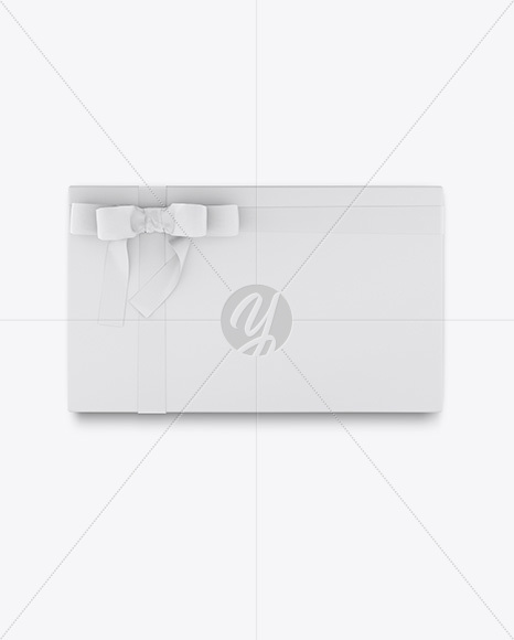 Download Gift Box Mockup Top View In Box Mockups On Yellow Images Object Mockups PSD Mockup Templates
