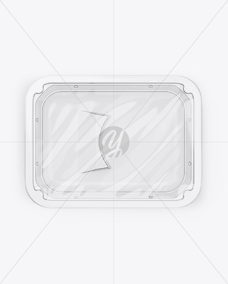 Transparent Tray Mockup - Top View