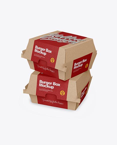 Download Kraft Gift Box Mockup Half Side View PSD - Free PSD Mockup Templates