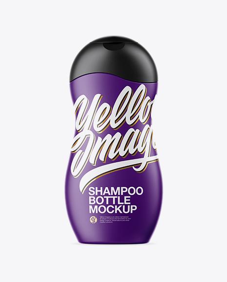 Matte Shampoo Bottle Mockup
