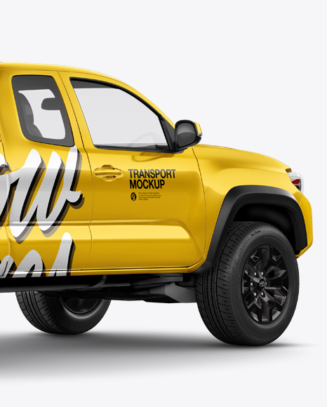 Download Toyota Tacoma TRD Off-Road 2016 Mockup - Back Half Side View Object Mockups