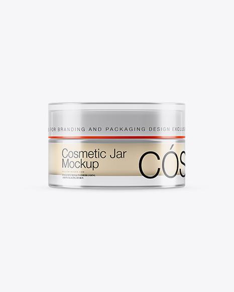 15ml Transparent Cosmetic Jar Mockup