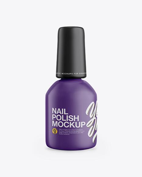 Download Matte Nail Polish Bottle Mockup - Front View Object Mockups