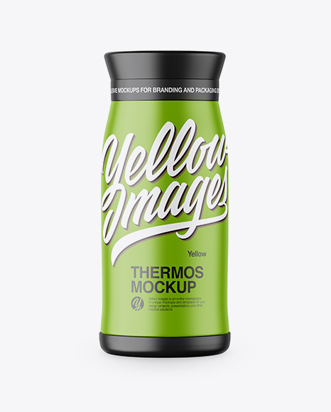 Download Matte Thermos Mockup Object Mockups