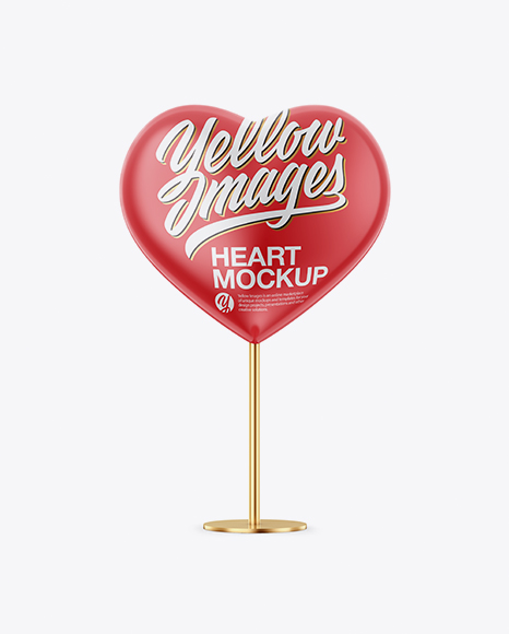 Heart Shape Glossy Stand - Front View