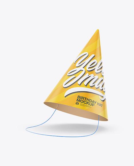 Download Birthday Hat Mockup Object Mockups