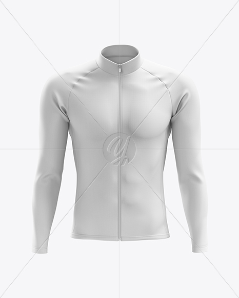 Men's Cycling Thermal Jersey LS mockup (Front View)