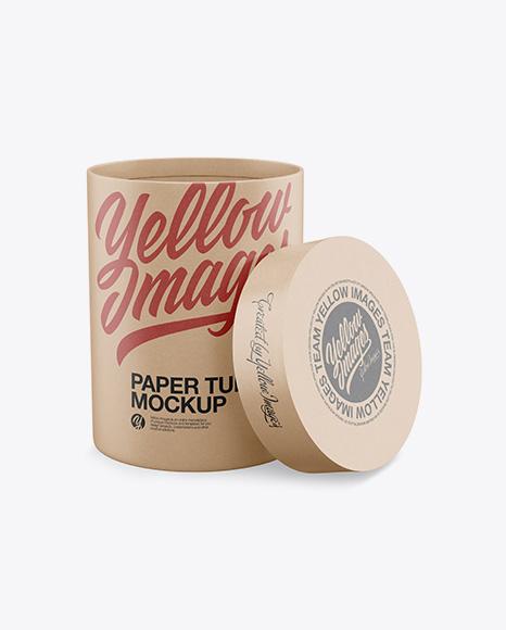 Download Opened Kraft Paper Tube Mockup - High-Angle Shot Object Mockups