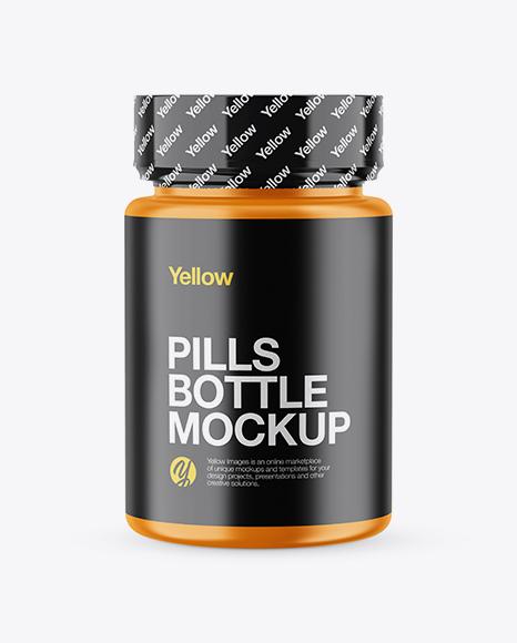 Download Matte Pills Bottle With Shrink Sleeve Mockup Object Mockups