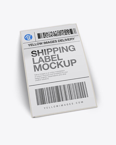Free Mockups Shipping Label Mockup - Half Side View Object Mockups