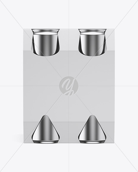 Download Carton Carrier 4 Matte Cans Mockup Front View PSD - Free PSD Mockup Templates