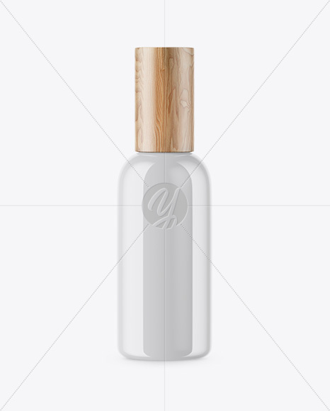 Opened Cosmetic Bottle With Cap Mockup