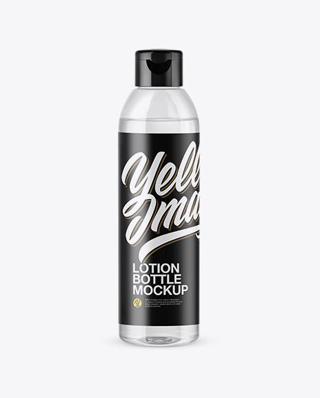 Clear PET Cosmetic Bottle Mockup