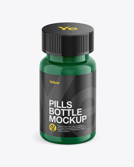 Download Glossy Plastic Pills Bottle Mockup Front View High Angle Shot In Bottle Mockups On Yellow Images Object Mockups PSD Mockup Templates